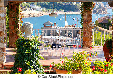 Tossa de Mar, Costa Brava, Spain. - The famous resort of...