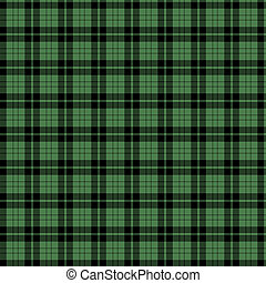 Green Tartan background - A seamless patterned tile of a...