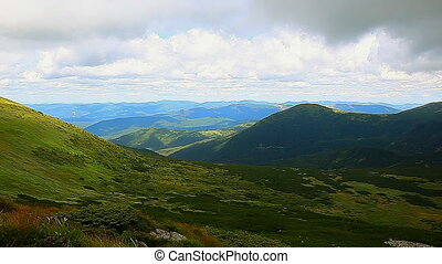 view Carpathian Mountains - view from the top of Carpathian...