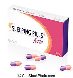 Sleeping Pills Drugs Packet - Sleeping pills packet, a...