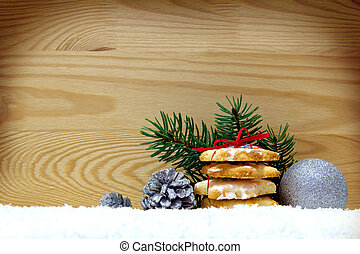 Chistmas backgound - Christmas cookies and decoration...