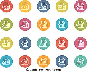 Documents Icons - 2 of 2 - Vector icons for your web, mobile...