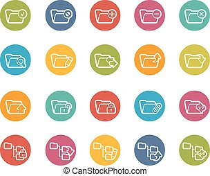 Folder Icons - 1 of 2 - Vector icons for your web, mobile or...