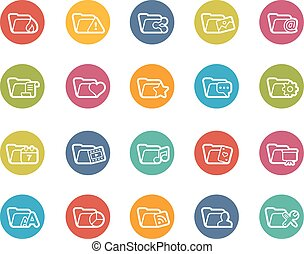 Folder Icons - 2 of 2 - Vector icons for your web, mobile or...