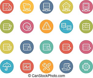 Network and Server Icons - Vector icons for your web, mobile...
