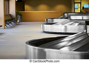Airport Baggage Terminal - Image of the baggage pick up area...