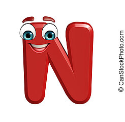 cartoon character of N - 3d rendered illustration of cartoon...