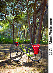 cycling tourism bike in Spain with paniers - cycling tourism...