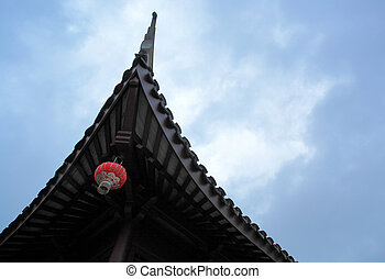 chinese roof with a lantern