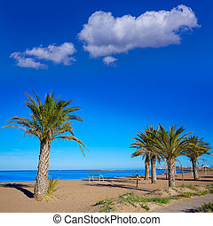 Denia beach in Alicante in blue Mediterranean