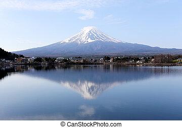 Mount Fuji in kawaguchiko lake side - Mount Fuji in...
