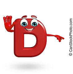 Cartoon Character of alphabet D