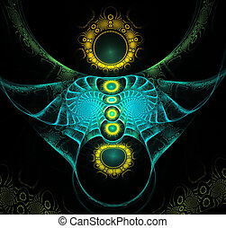 illustration background fractal pattern with circles and...