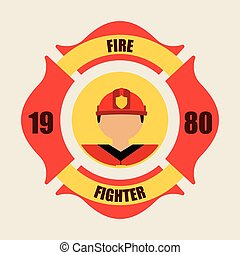 fire fighter design, vector illustration eps10 graphic