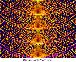 illustration of a background of a bright fractal ornament