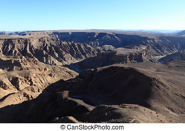 The Fish River Canyon in Namibia