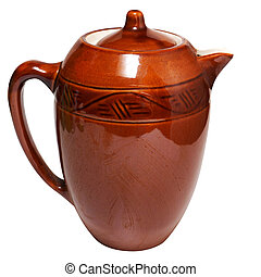 Jug - Red Jug. Isolated on white, with clipping path.