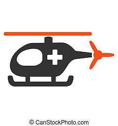 Emergency Helicopter Icon - Emergency Helicopter glyph icon....