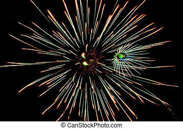 July 4th Fireworks - 4th of July Fireworks with multiple...