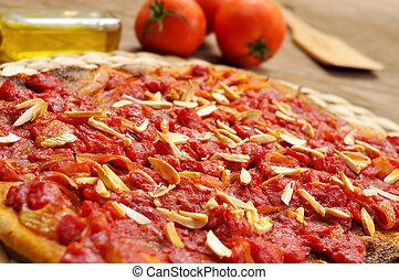 tomate, plano, De, Pastel, Coc, tomata, VALENCIA, Atún,...