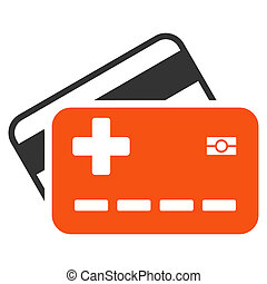 Medical Insurance Cards Icon - Medical Insurance Cards glyph...