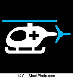 Emergency Helicopter Icon - Emergency Helicopter vector...