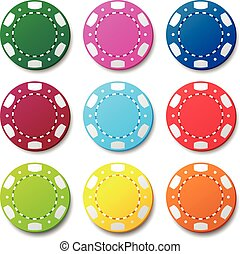 Gambling casino poker chips color sign