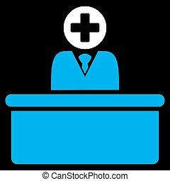 Medical Bureaucrat Icon - Medical Bureaucrat vector icon....