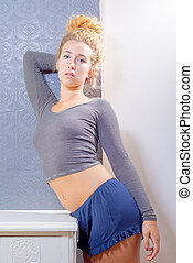 Natural Beauty In Lounge Wear - Natural beauty in relaxing...