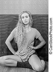 Beautiful Blonde Female Candid Portrait - Beautiful blonde...