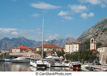 Kotor - View of the town of Kotor Montenegro