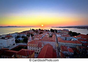 City of Zadar skyline sunset view