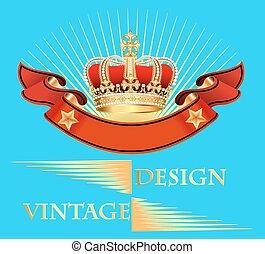 illustration vintage background wit