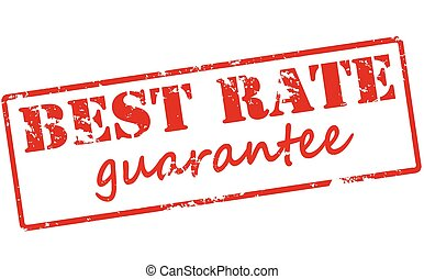 Best rate guarantee - Rubber stamp with text best rate...