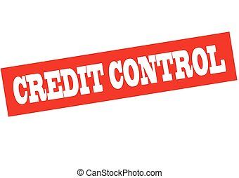 Credit control - Rubber stamp with text credit control...