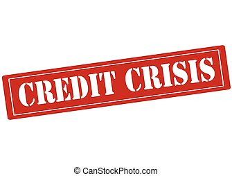 Credit crisis - Rubber stamp with text credit crisis inside,...