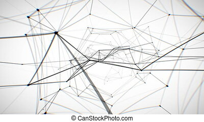 Abstract Network Looped Animation. HD 1080.
