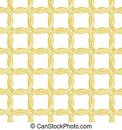 Seamless pattern with golden chains Hand-drawn background...