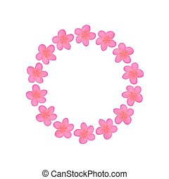 Plumeria. Wreath with flowers. Real watercolor drawing....