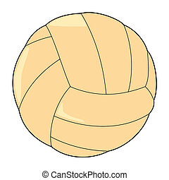 volleyball ball - vector illustration of volleyball ball