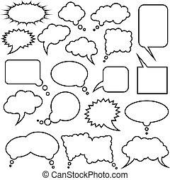 Speech bubble collection. Vector illustration