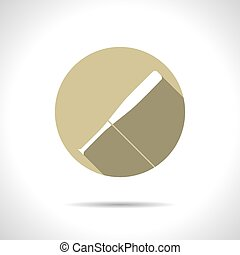 Sport illustration - Vector flat baseball bat icon on color...