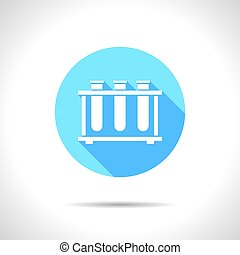 test-tube - Vector flat test-tube icon on color circle