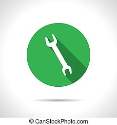 adjustable wrench - Vector flat adjustable wrench icon on...