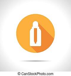 Vector flat bottle - Vector flat dropper bottle on color...