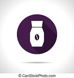 Vector color flat coffee bottle template - Vector flat...