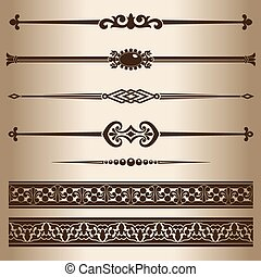 Decorative lines Design elements - decorative line dividers...