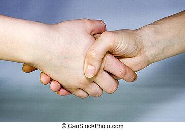 kéz, ráz
