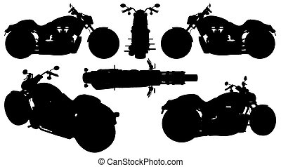 Motorcycle Silhouette Vector ... - Motorcycle Silhouette...