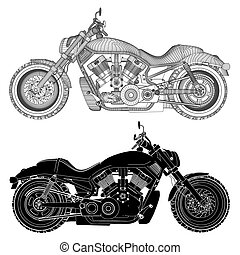 Motorcycle Silhouette Vector ... - Motorcycle Vector